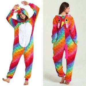 Mermaid Scale Rainbow Unicorn Kigurumi Onesie S